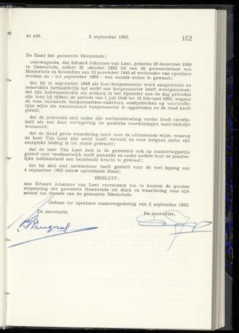 Raadsnotulen Heemstede 1962-09-03