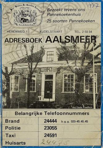 Adresboeken Aalsmeer 1977