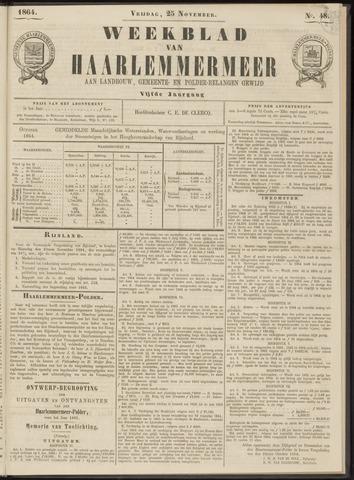 Weekblad van Haarlemmermeer 1864-11-25