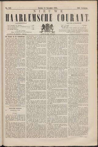 Nieuwe Haarlemsche Courant 1885-11-15