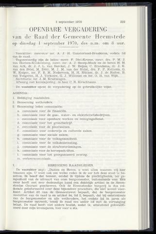 Raadsnotulen Heemstede 1970-09-01