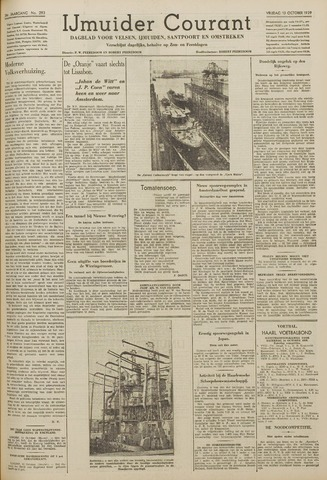 IJmuider Courant 1939-10-13