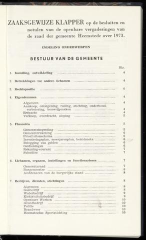 Raadsnotulen Heemstede 1973