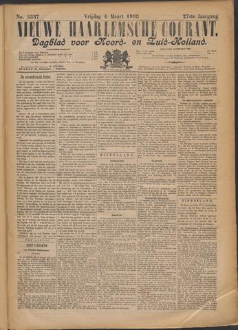 Nieuwe Haarlemsche Courant 1903-03-06
