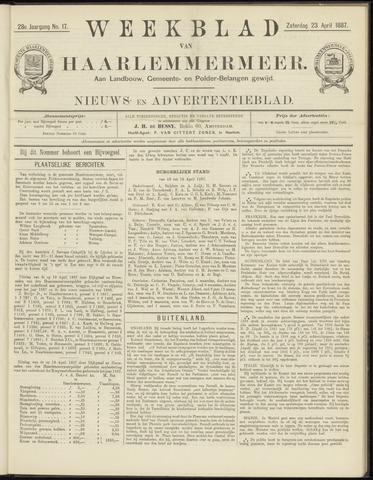 Weekblad van Haarlemmermeer 1887-04-23
