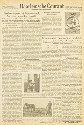 Haarlemsche Courant 1943-11-22