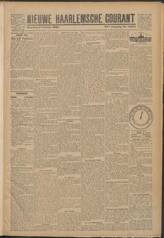 Nieuwe Haarlemsche Courant 1922-10-02