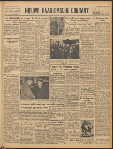 Nieuwe Haarlemsche Courant 1949-04-02