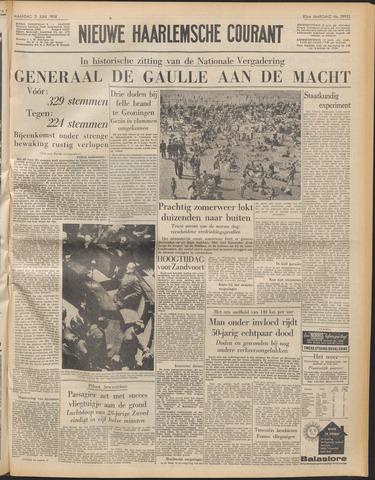 Nieuwe Haarlemsche Courant 1958-06-02