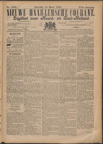 Nieuwe Haarlemsche Courant 1903-03-14