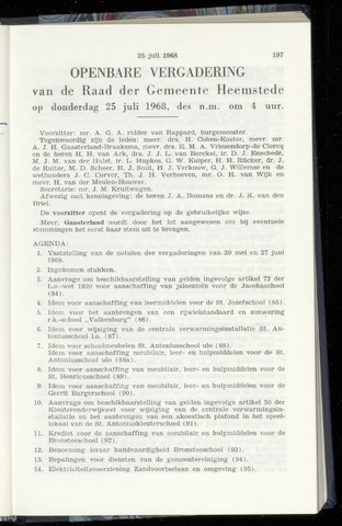 Raadsnotulen Heemstede 1968-07-25