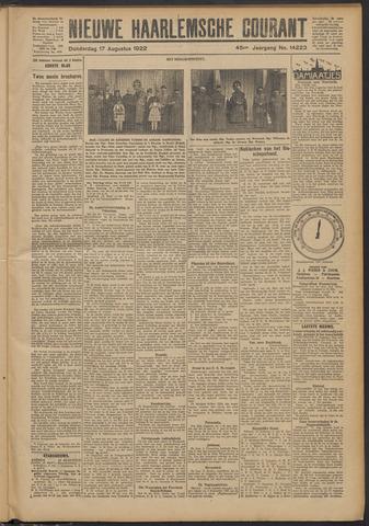 Nieuwe Haarlemsche Courant 1922-08-17