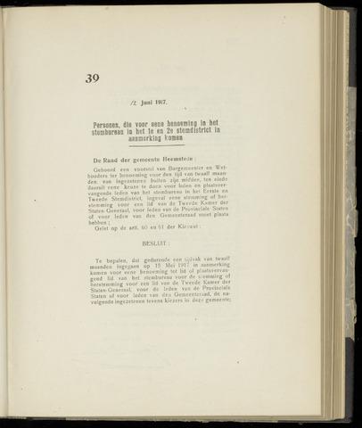 Raadsnotulen Heemstede 1917-06-12