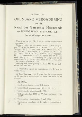 Raadsnotulen Heemstede 1951-03-29