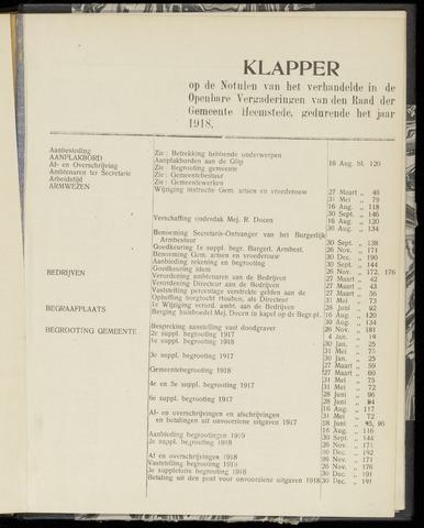 Raadsnotulen Heemstede 1918-01-01