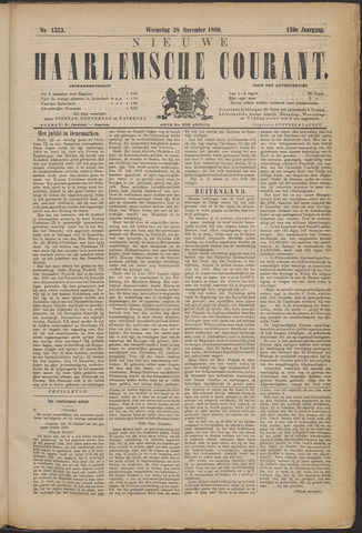 Nieuwe Haarlemsche Courant 1888-11-28