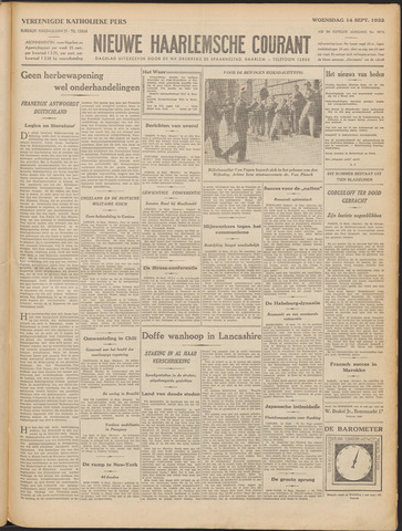 Nieuwe Haarlemsche Courant 1932-09-14