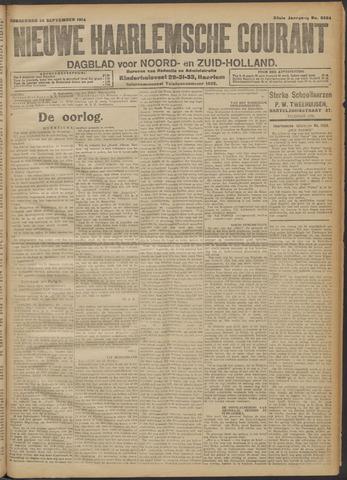 Nieuwe Haarlemsche Courant 1914-09-24