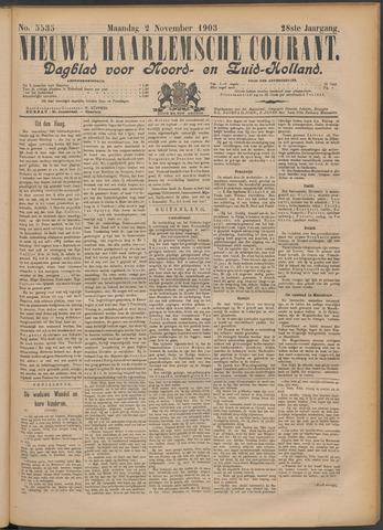Nieuwe Haarlemsche Courant 1903-11-02