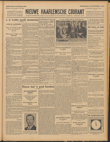 Nieuwe Haarlemsche Courant 1933-09-27