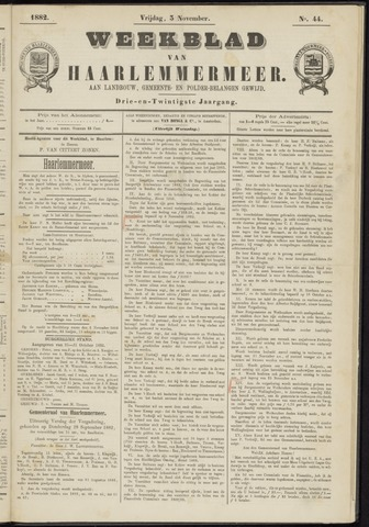 Weekblad van Haarlemmermeer 1882-11-03
