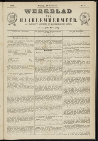 Weekblad van Haarlemmermeer 1879-11-21