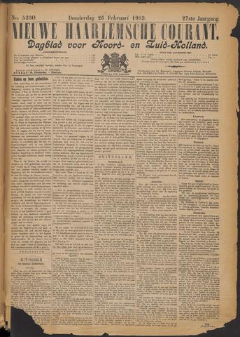 Nieuwe Haarlemsche Courant 1903-02-26