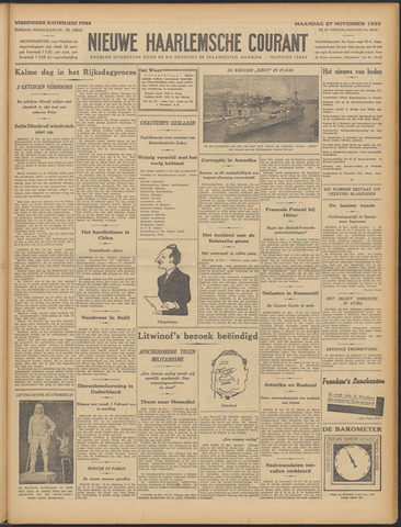 Nieuwe Haarlemsche Courant 1933-11-27