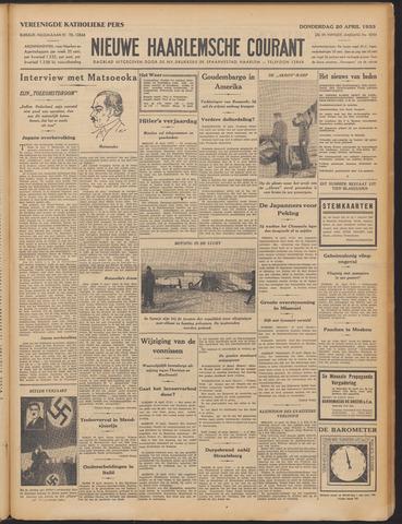 Nieuwe Haarlemsche Courant 1933-04-20