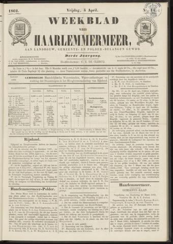 Weekblad van Haarlemmermeer 1862-04-04