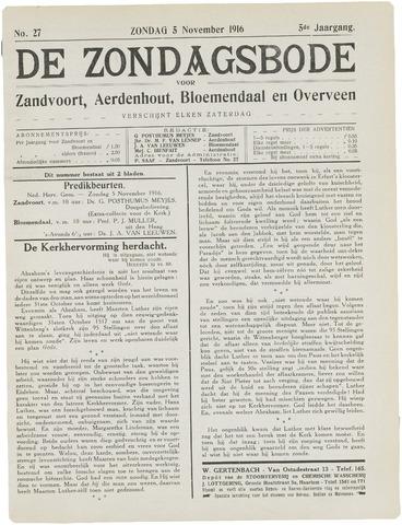 De Zondagsbode voor Zandvoort en Aerdenhout 1916-11-05