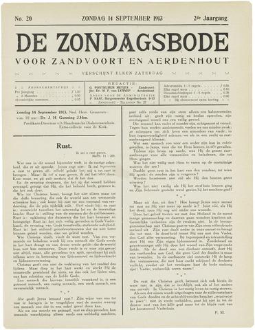 De Zondagsbode voor Zandvoort en Aerdenhout 1913-09-14