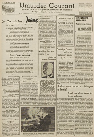 IJmuider Courant 1939-08-07