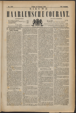 Nieuwe Haarlemsche Courant 1892-02-26