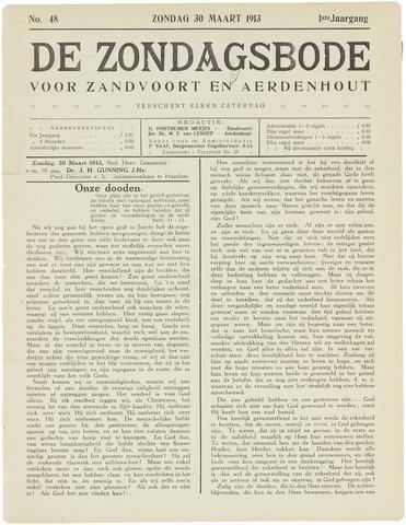 De Zondagsbode voor Zandvoort en Aerdenhout 1913-03-30