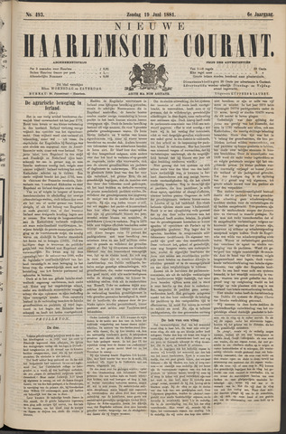 Nieuwe Haarlemsche Courant 1881-06-19