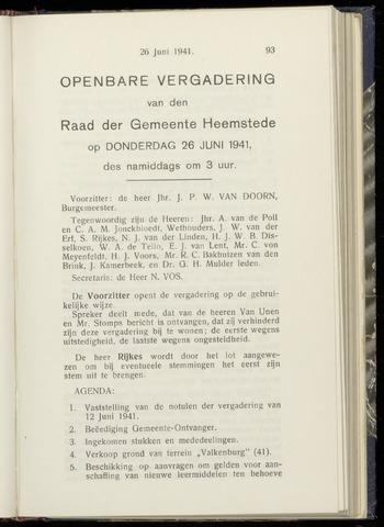 Raadsnotulen Heemstede 1941-06-26