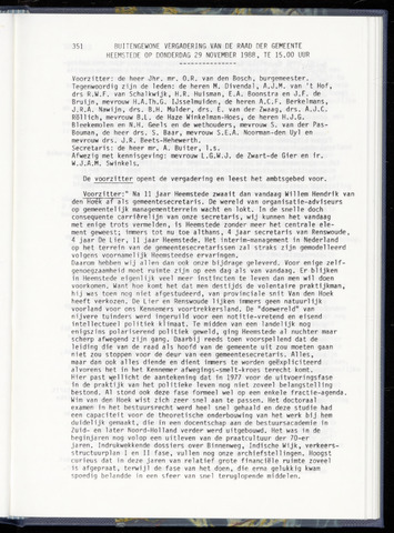 Raadsnotulen Heemstede 1988-11-29