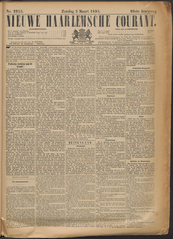 Nieuwe Haarlemsche Courant 1895-03-03