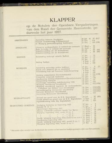 Raadsnotulen Heemstede 1927-01-01