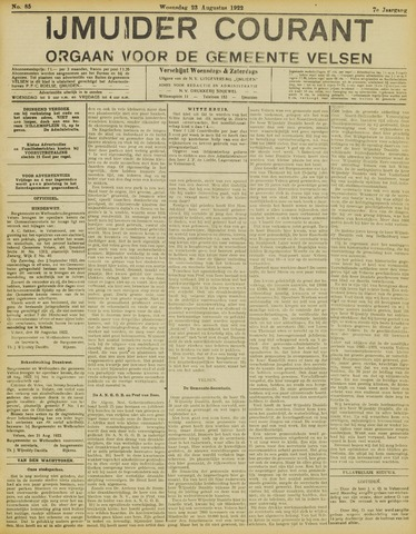 IJmuider Courant 1922-08-23