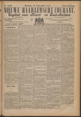 Nieuwe Haarlemsche Courant 1905-09-18