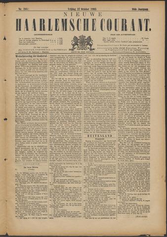 Nieuwe Haarlemsche Courant 1893-10-27