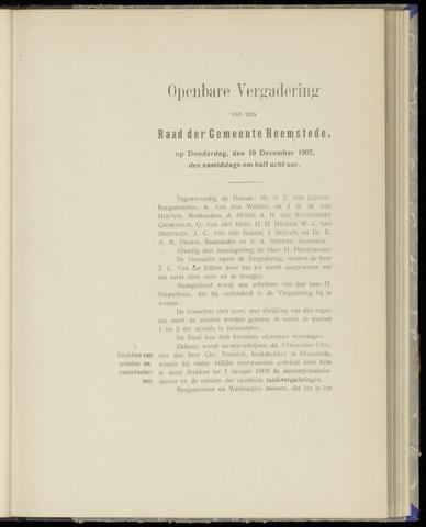 Raadsnotulen Heemstede 1907-12-19