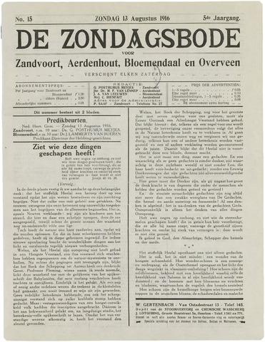 De Zondagsbode voor Zandvoort en Aerdenhout 1916-08-13