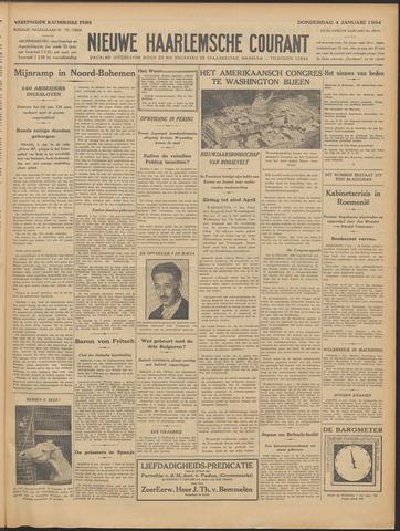 Nieuwe Haarlemsche Courant 1934-01-04