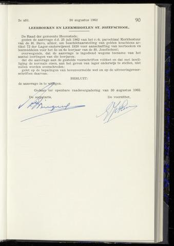 Raadsnotulen Heemstede 1962-08-30