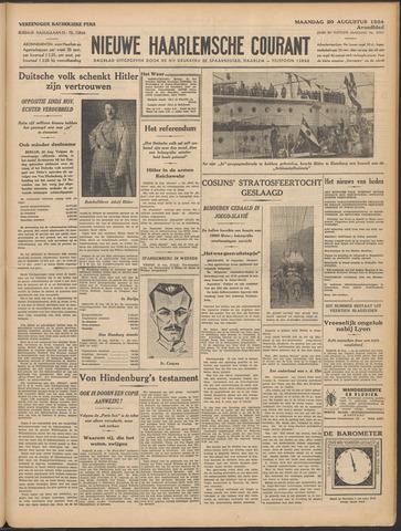 Nieuwe Haarlemsche Courant 1934-08-20