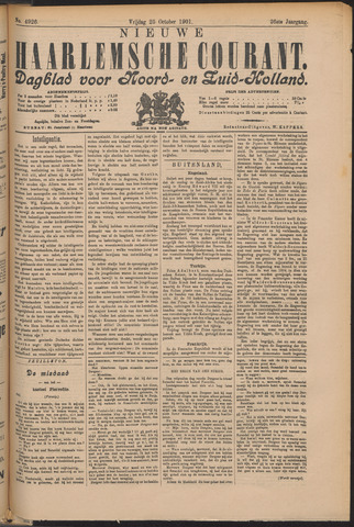 Nieuwe Haarlemsche Courant 1901-10-25