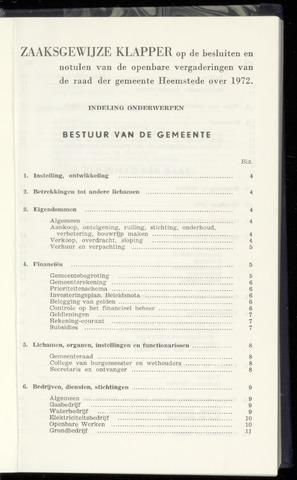 Raadsnotulen Heemstede 1972-01-01